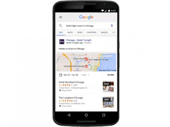 Die Google-Suche unter Android soll euch jetzt auch App-Inhalte per Streaming auf den Bildschirm zaubern. (Grafik: Google)