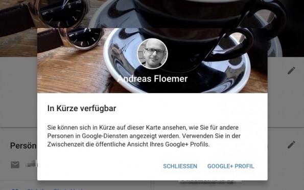 Ein weiterer Hinweis darauf, dass Google einen Relaunch von Google+ vorbereitet. (Screenshot: t3n)