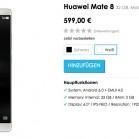 Huawei Mate 8 – schon gestern ist das Phablet im Online-Store des Herstellers aufgetaucht. (Screenshot: t3n/Vmall)