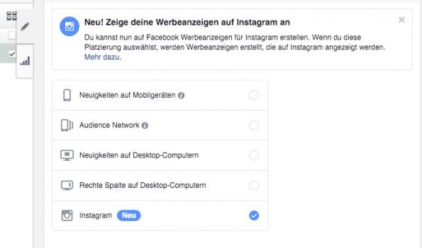 Instagram-Anzeigen erstellt ihr über den Power Editor von Facebook. (Screenshot: Power Editor)