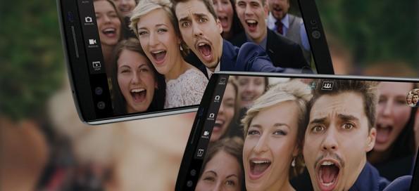 Das LG V10 besitzt zwei Frontkameras – eine für Selfies und eine speziell für Groufies. (Bild: LG)