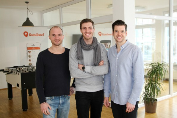 Das Gründerteam von Familo: David Nellessen, Michael Asshauer und Hauke Windmüller. (Foto: Presse)