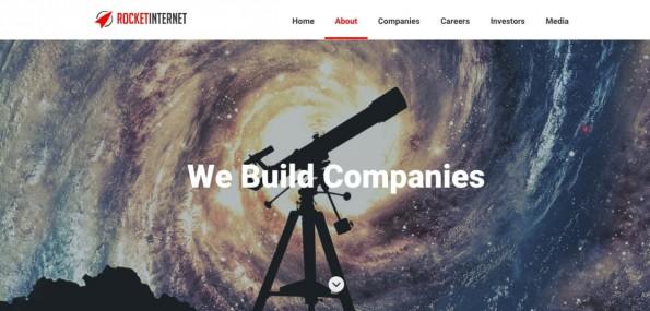 Startup-Finanzierung: Rocket Internet ist einer der bekanntesten Company Builder in Deutschland. (Screenshot: Rocket Internet)