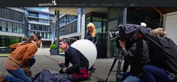Die Parallax-Webseite von Apoint Film basiert auf NEOS CMS. (Screenshot: t3n)