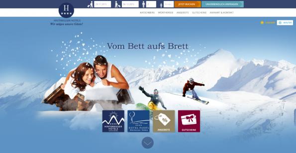 Die Hinterlegter Hotels nutzen NEOS CMS für die Webseite zu ihren Hotels un Angeboten. (Screenshot: t3n)