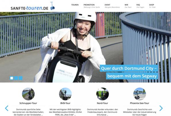 """""""Sanfte Touren"""" bietet Segway-Trips in Dortmund an. (Screenshot: t3n)"""