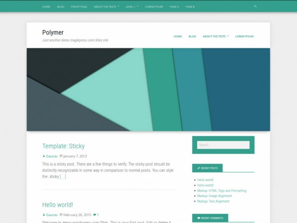 Polymer hat sich von der Design-Sparche Material Design inspirieren lassen. (Screenshot: WordPress.org)