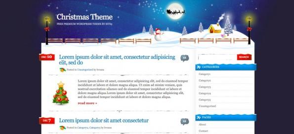 Christmas time: Das Theme ist leider nicht für mobile Endgeräte geeignet. (Screenshot: S5)