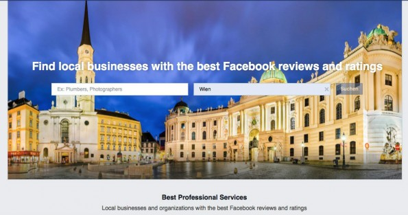 "Kann Facebook mit ""Professional Services"" Yelp Konkurrenz machen? (Screenshot: Facebook/t3n)"