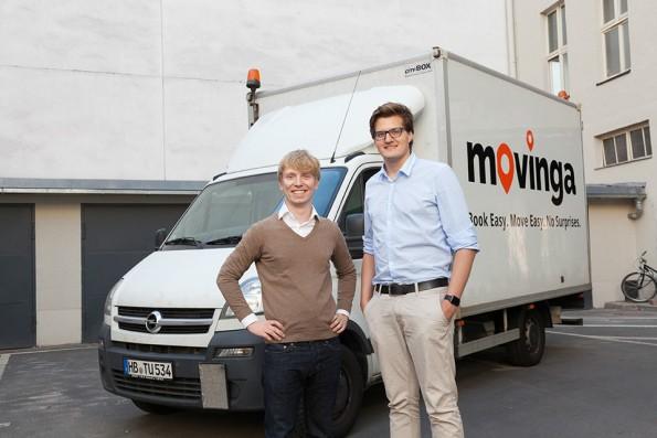 Das Gründerteam von Movinga. (Foto: Movinga)