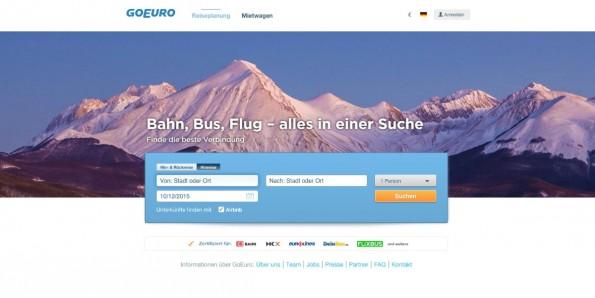 Flugzeug, Bahn oder Bus: GoEuro deckt alle Transportmittel des europäischen Verkehrsnetzes ab.