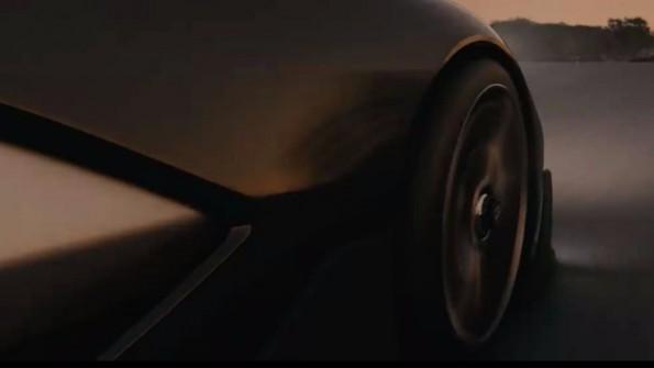 Im Teaser-Video sind Teile des neuen Elektroautos zu sehen. (Bild: Faraday Future)