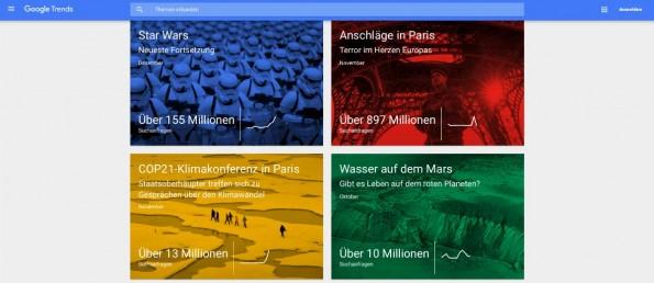 2015: Google wirft einen Blick zurück. (Screenshot: google.de)