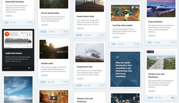 """Ein Masonry-Grid-Layout sieht nicht nur gut aus, sondern lässt auch viele Informationen auf kleinen Raum darstellen. (Screenshot: <a href=""""http://pluto.pinsupreme.com/frame/frame.php"""">Pluto-Theme</a>)"""