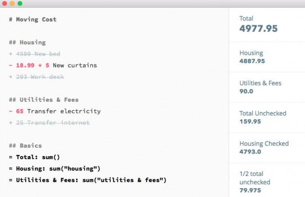 Jotdown: Der Markdown-Editor hilft euch auch beim Rechnen. (Screenshot: Jotdown)