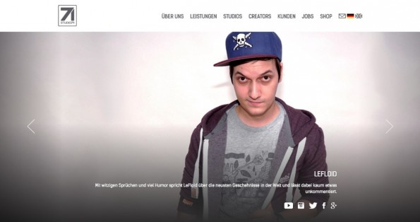 YouTuber wie LeFloid stehen bei Studio71 unter Vertrag. (Screenshot: Studio71)