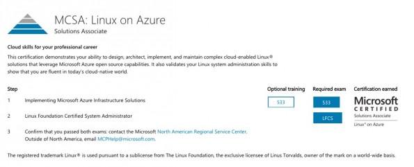 So ändern sich die Zeiten: Microsoft zertifiziert jetzt Linux-Admins. (Screenshot: Microsoft)