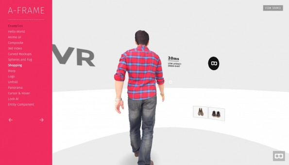 Virtual Reality im Browser: Mozilla stellt quelloffenes VR-Framework vor. (Screenshot: aframe.io)