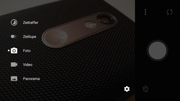 Minimalistisch: So sieht die Kamera-App des OnePlus X aus. (Screenshots: t3n)