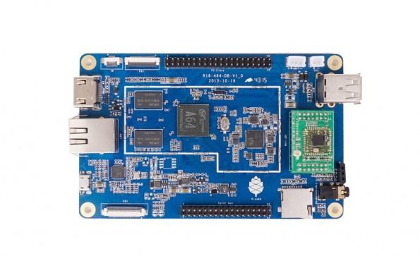 Pine A64: Die Raspberry-Pi-Alternative verfügt über einen 64-bit-Prozessor und kostet 15 US-Dollar. (Foto: Pine)