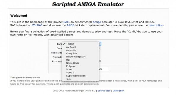 Scripted Amiga Emulator. (Screenshot: t3n)