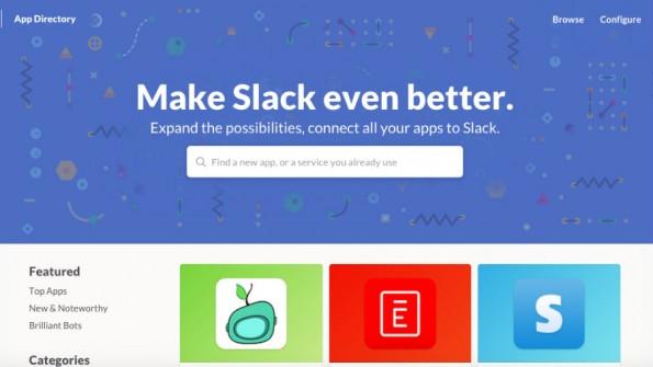 Nur ausgewählte Apps nimmt Slack in sein neues Verzeichnis auf. (Bild: Screenshot)