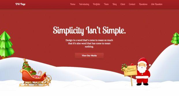 Das Wordpress-Theme DW Page gibt es auch im Weihnachtslook. (Screenshot: designwall)