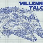 weihnachtsgeschenke geeks milenium falcon inkedandscreened