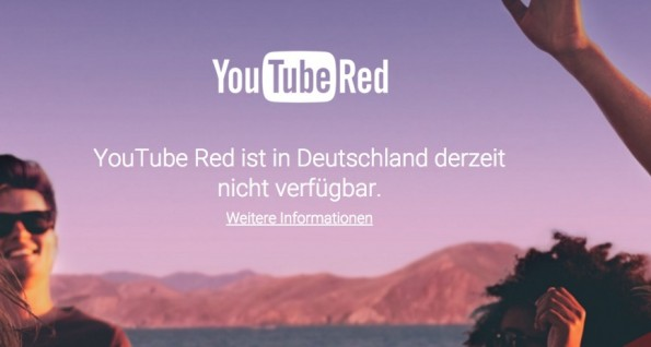 YouTube Red: Deutsche Kunden gucken in die Röhre. (Screenshot: YouTube)