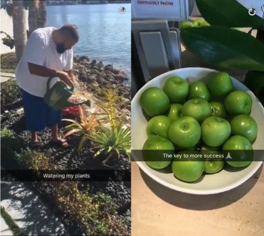 Typische Snapchat-Beiträge von DJ Khaled.