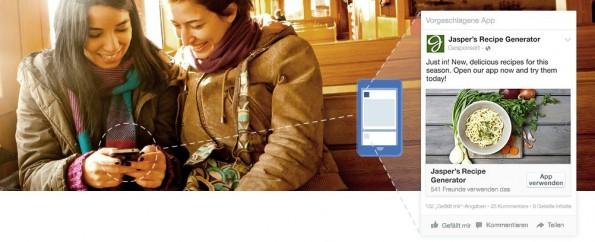Facebook-Nutzer am Smartphone bekommen mehr Werbung angezeigt, für Werber wird's teurer. (Bild: Facebook)