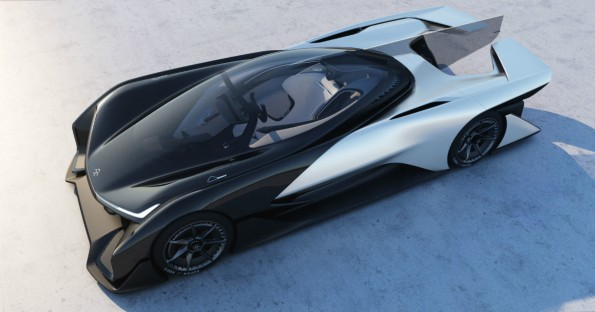 FFZERO1: Konzeptauto von Faraday Future ähnelt dem Batmobil. (Bild: Faraday Future)