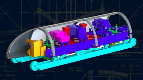 Das Hyperloop-Kapseldesign des MIT-Teams. (Grafik: MIT Hyperloop Team)