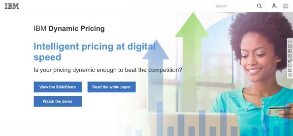 Mit IBM Dynamic Pricing stellt der US-Konzenr eine Cloud-Lösung zur automatischen Preisanpassung für Händler vor.(Screenshot: IBM)