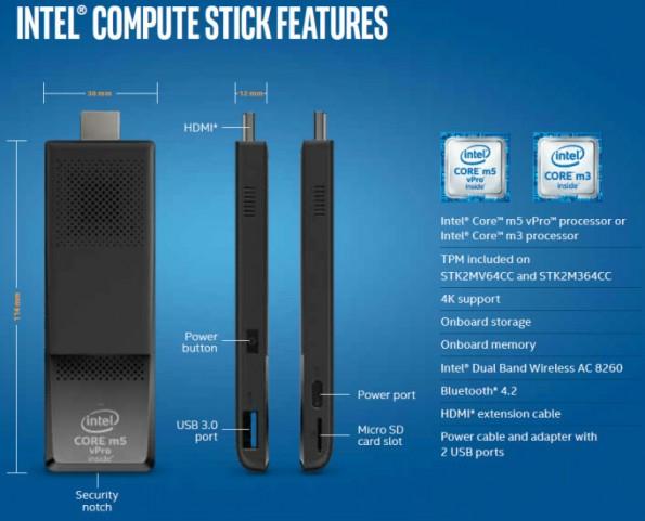 Intel Compute Stick: Jetzt schneller, schicker – und teurer. (Bild: Intel)