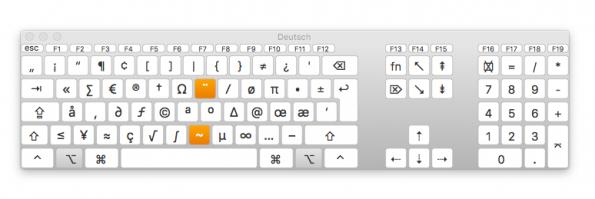 Die Tastaturübersicht zeigt wo die Sonderzeichen liegen (Screenshot: t3n)