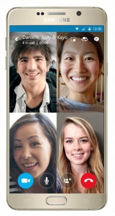 Skype ermöglicht Video-Gruppenanrufe am Smartphone. (Bild: Skype)
