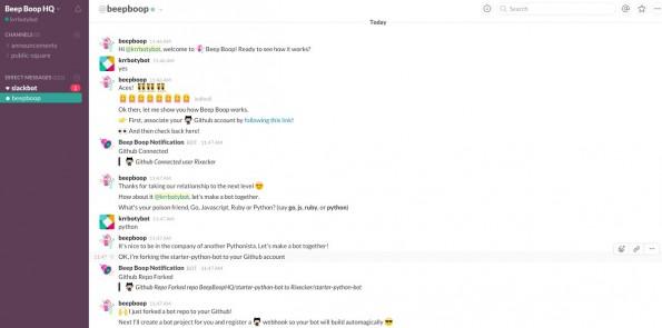 Botception: Euren Slack-Bot richtet ihr über einen Slack-Bot ein. (Screenshot: Beep Boop / Slack)