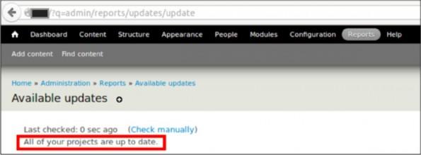 Drupal: Der automatische Update-Mechanismus ist anscheinend fehlerhaft. (Screenshot: IOActive)
