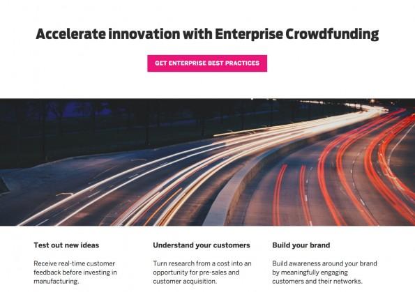Enterprise Crowdfunding: Indiegogo will verstärkt große Unternehmen anlocken. (Screenshot: Indiegogo)