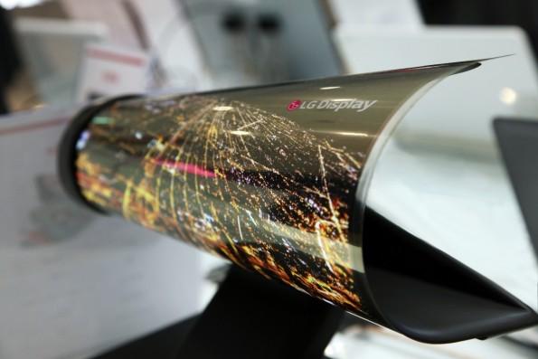 Aufrollbares OLED-Display von LG. (Foto: LG)