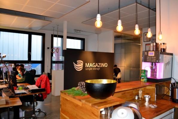 Der Eingangsbereich vom Magazino-Office in München. (Foto: Jochen G. Fuchs)