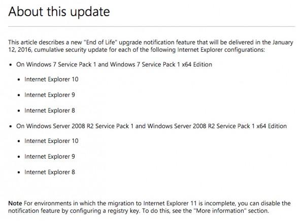 Microsoft wird bald keine Patches mehr für den Internet Explorer 8, 9 und 10 mehr veröffentlichen. (Screenshot: microsoft.com)