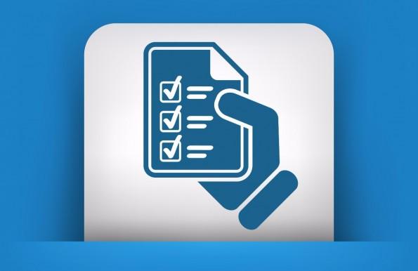 Die Umfrage besteht größtenteils aus Multiple-Choice-Fragen und ist innerhalb weniger Minuten beantwortet. (Grafik: Shutterstock