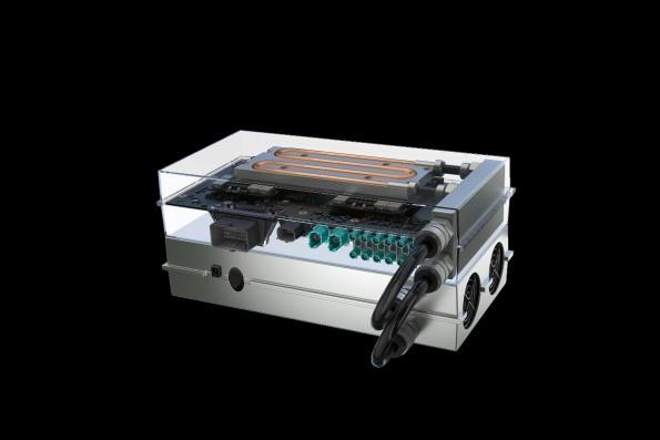 Nvidia Drive PX 2: Dieser wassergekühlte Computer soll selbstfahrende Autos steuern. (Foto: Nvidia)