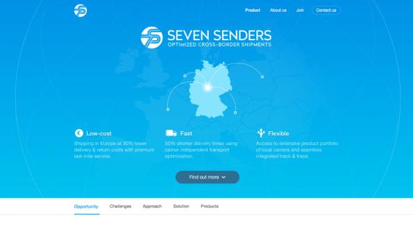 Seven Senders senkt die Kosten für den Versand von Waren ins Ausland. (Screenshot: t3n)