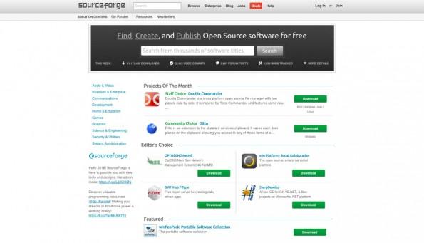 SourceForge und Slashdot haben einen neuen Besitzer. (Screenshot: SourceForge)