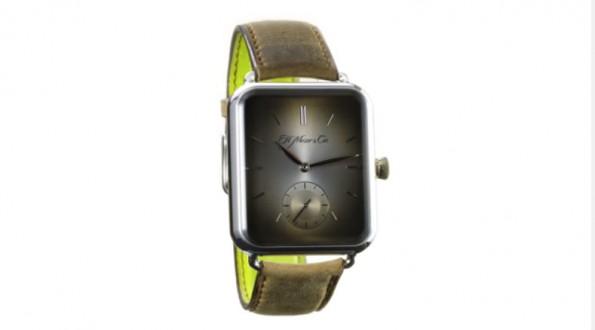 """Die """"Swiss Alp Watch"""" dient als analoge Hommage an die Apple Watch. (Grafik: YouTube)"""
