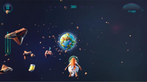 "Das Spiel ""Spacelamb"" des Entwicklers ""12Wave Production"" basiert auf WebGL. (Screenshot: Spacelamb)"