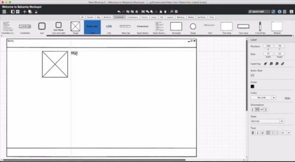 Wireframe.cc bietet eine große Auswahl an UI Elementen. (Screenshot: wireframe.cc)